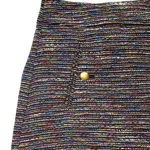 LOFT Skirts - $79 Vintage 90s Tweed Rainbow Loft Skirt 12 Large